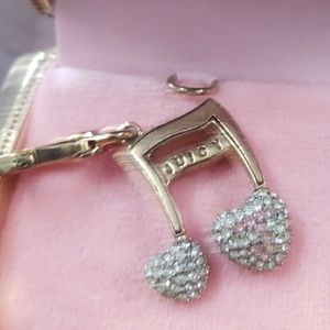 Juicy Couture charm music notes EUC.